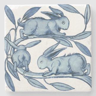 William De Morgan Rabbits Stone Coaster