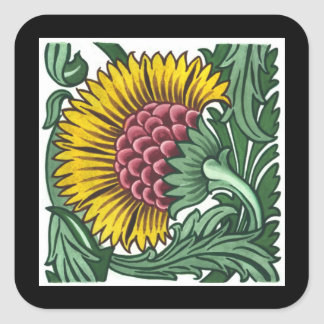 William de Morgan Tile Square Sticker
