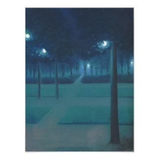 William Degouve de Nuncques - Parc Royal, Brussels Photo Print