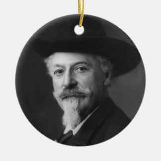 William F. Cody a.k.a. Buffalo Bill Portrait Ceramic Ornament