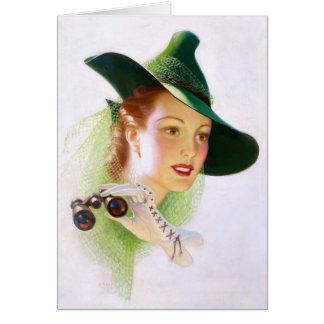 William Fulton Soare: Woman with Binocular Card