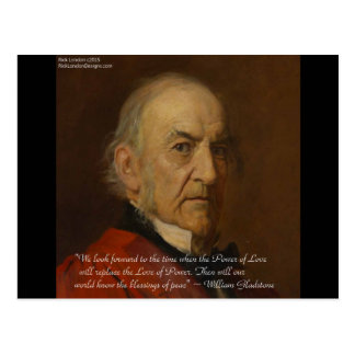 William Gladstone & Power Of Love Quote Postcard