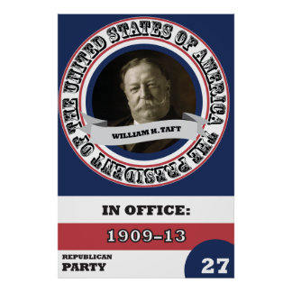 William H. Taft Presidential History Retro Poster