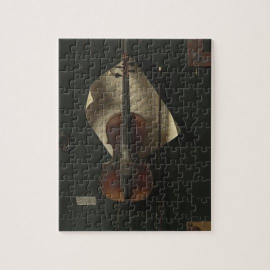William Harnett The Old Violin Jigsaw Puzzle