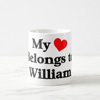 William has my heart coffee mug