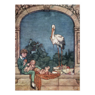 William Heath Robinson - The Storks Poster