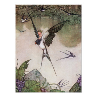 William Heath Robinson - Tommelise Poster