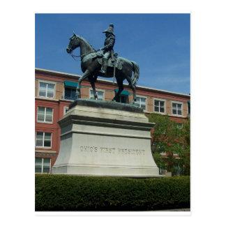 William Henry Harrison statue Postcard