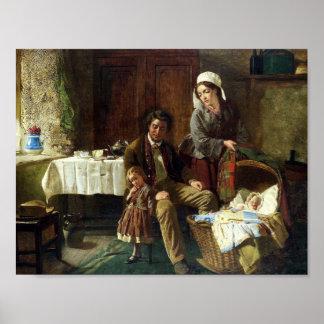 William Henry Midwood (British fl.1865-1871) famil Poster