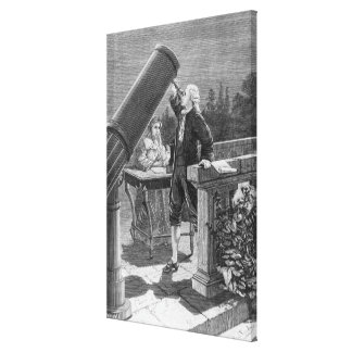 William Herschel  Discovers the Planet Uranus Gallery Wrapped Canvas