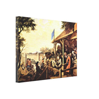 William Hogarth - The Polling Stretched Canvas Prints