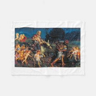 William Holman Hunt - Triumph of the Innocents Fleece Blanket