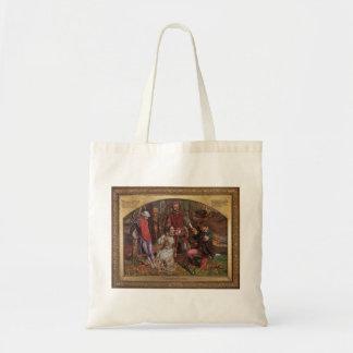 William Hunt- Valentine Rescuing Silvia,Proteus Tote Bag