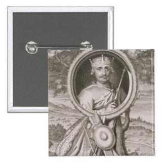 William II 'Rufus' (c.1056-1100) King of England f 15 Cm Square Badge