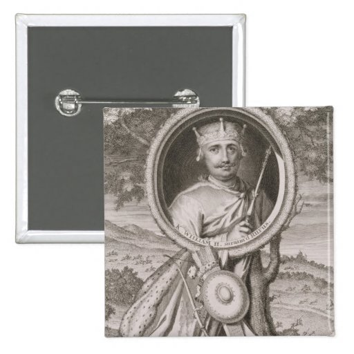 William II 'Rufus' (c.1056-1100) King of England f Pinback Buttons