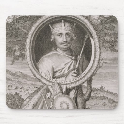 William II 'Rufus' (c.1056-1100) King of England f Mouse Pads