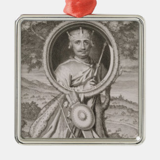 William II 'Rufus' (c.1056-1100) King of England f Silver-Colored Square Decoration