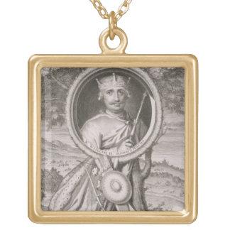 William II 'Rufus' (c.1056-1100) King of England f Square Pendant Necklace