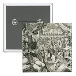 William III (1650-1702) and Mary II (1662-94) King 15 Cm Square Badge