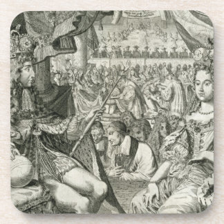William III (1650-1702) and Mary II (1662-94) King Beverage Coasters