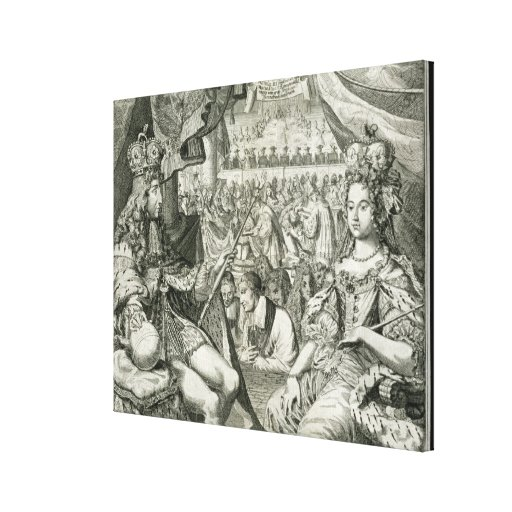 William III (1650-1702) and Mary II (1662-94) King Stretched Canvas Print