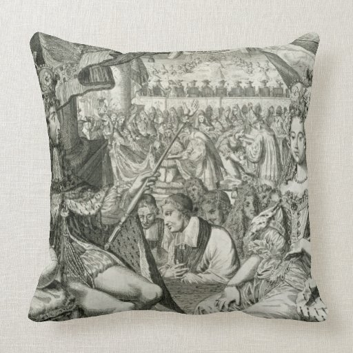 William III (1650-1702) and Mary II (1662-94) King Pillow