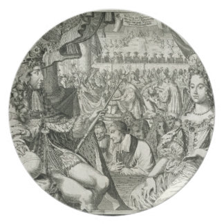 William III (1650-1702) and Mary II (1662-94) King Dinner Plate