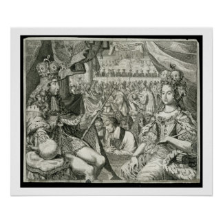 William III (1650-1702) and Mary II (1662-94) King Poster