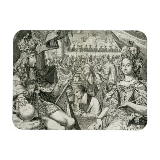 William III (1650-1702) and Mary II (1662-94) King Rectangle Magnet