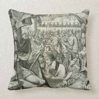 William III (1650-1702) and Mary II (1662-94) King Throw Cushions