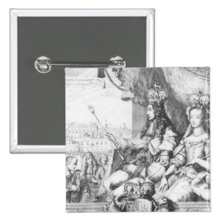 William III  and Mary II 15 Cm Square Badge