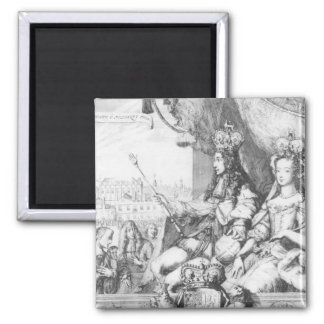 William III  and Mary II Square Magnet
