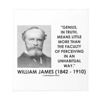 William James Genius Perceiving An Unhabitual Way Notepads