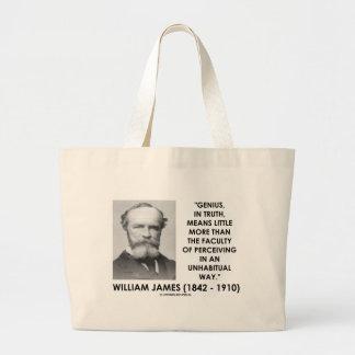 William James Genius Perceiving An Unhabitual Way Tote Bag