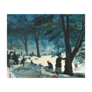 William James Glackens Central Park Winter Canvas Print