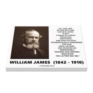 William James Mass Of Habits Destiny Quote Canvas Print