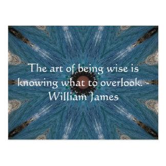 William James Quote With Primative Tribl Design Postcard