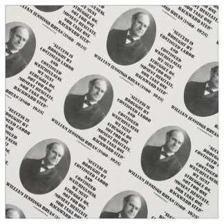 William Jennings Bryan Success Labor Watchfulness Fabric