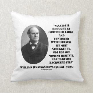 William Jennings Bryan Success Labor Watchfulness Throw Pillow