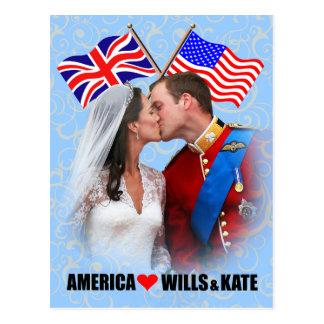 William & Kate - America Postcard