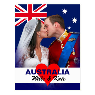 William & Kate - Australia Postcard