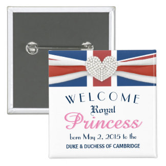 William & Kate Royal Baby Princess Keepsake Pin