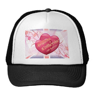 William & Kate Royal Wedding Collectibles Souvenir Mesh Hats