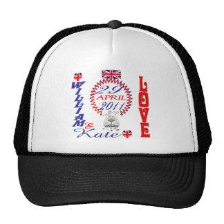 William & Kate Royal Wedding Collectibles Souvenir Hats
