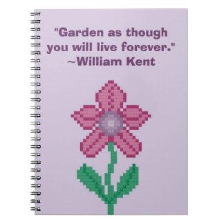 William Kent Garden Forever Quote Notebook