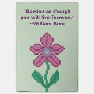 William Kent Gardening Quote Post-It Note
