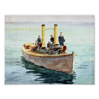 William Lionel  Wyllie, Steam pinnace Poster