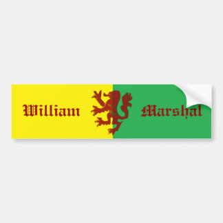 William Marshal Lion Bumper Sticker