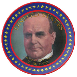 william mckinley 25th president plate
