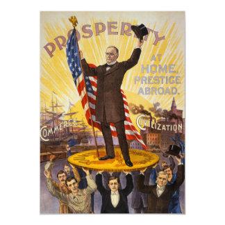 William McKinley Campaign Poster Gold Standard 13 Cm X 18 Cm Invitation Card